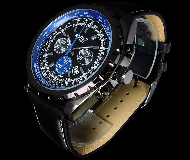 mega coole animo uhr herrenuhr armbanduhr schwarz blau datum ebay. Black Bedroom Furniture Sets. Home Design Ideas