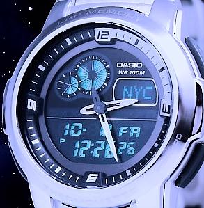 casio digital herren uhr armbanduhr chronograph temperatur anzeige worldtimer ebay. Black Bedroom Furniture Sets. Home Design Ideas
