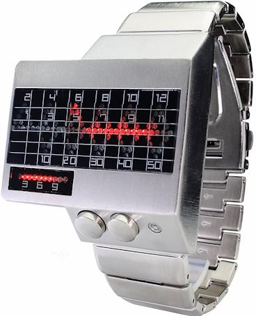 Champ-Digital-Uhr-Herrenuhr-Armbanduhr-rotes-Lauflicht