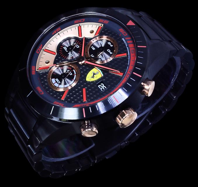 ferrari uhr herrenuhr armbanduhr schwarz rot rose gold. Black Bedroom Furniture Sets. Home Design Ideas