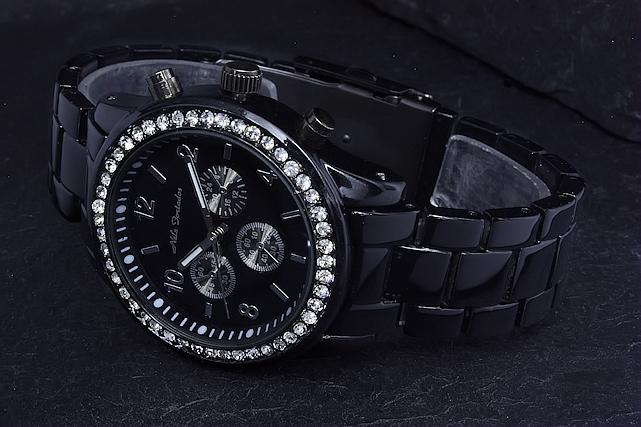 Damenuhren schwarz metall  Nele Fortados Uhr Damenuhr Armbanduhr Schwarz Metall Strass | eBay