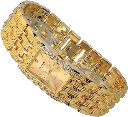 omax damen uhr armbanduhr gold farben strass ebay. Black Bedroom Furniture Sets. Home Design Ideas